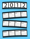 De kalender van de de filmstrook van 2012 Royalty-vrije Stock Foto