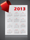De kalenderontwerp van 2013 met het buigen van pijl Stock Foto's