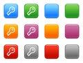 De knopen van de kleur met zeer belangrijk pictogram Royalty-vrije Stock Foto's