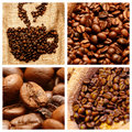 De koffie themed collage Stock Foto