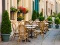 De koffie van de straat in Luxemburg Royalty-vrije Stock Foto