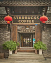 De Koffie van Starbucks in Chengdu China Stock Fotografie