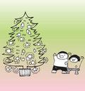 De komst van Kerstmis Stock Foto