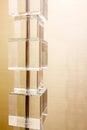 De kubussen van de doos van de lampachtergrond Royalty-vrije Stock Fotografie