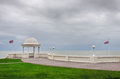 The de la warr pavilion grounds scenic view of of with english channel in background bexhill east sussex Stock Photos