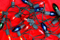 De Lichten van de vakantie op Fluweel Royalty-vrije Stock Afbeeldingen