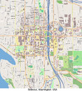De luchtmening van bellevuewashington united states hallo onderzoek Royalty-vrije Stock Fotografie