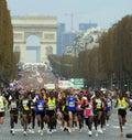 De marathon巴黎起始时间 免版税库存图片