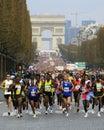 De marathon巴黎起始时间 库存照片