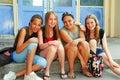 De meisjes van de school Stock Foto