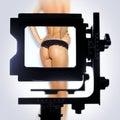 De meningspunt van de camera Stock Afbeeldingen