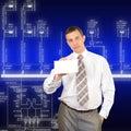 De nieuwste technologieën in machtstak Stock Fotografie