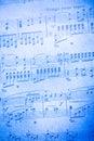 De notaachtergrond van de muziek Royalty-vrije Stock Afbeeldingen