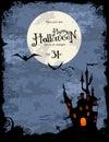 De partijuitnodiging of achtergrond van Halloween Royalty-vrije Stock Foto