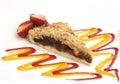 De pastei van de framboos met aardbei Royalty-vrije Stock Fotografie
