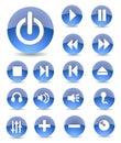 De Pictogrammen van verschillende media Stock Afbeelding