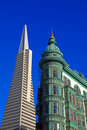 De Piramide van Transamerica in San Francisco Stock Foto