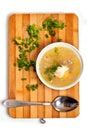 De plaat van de soep Royalty-vrije Stock Fotografie