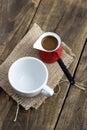 De pot van de koffie Stock Foto's