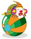 De reeks van de clown Stock Afbeelding