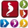 De reeks van het pictogram: seahorse Royalty-vrije Stock Fotografie