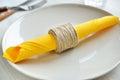 De ring van het kabeldiy servet Royalty-vrije Stock Foto