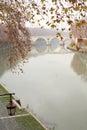 De Rivier van Tiber in Rome, Italië Royalty-vrije Stock Afbeeldingen