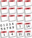 (De Rode) Kalender van de Dag van de douane Royalty-vrije Stock Afbeeldingen