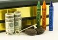 De rotsachtige Financial Times voor Scholen Stock Fotografie