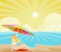 De Schaduw van de zomer Royalty-vrije Stock Fotografie