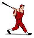 De speler van het honkbal het slaan Stock Fotografie