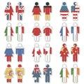De stickers van de de vrouwenvlag van de man Royalty-vrije Stock Afbeelding