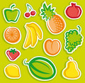 De stickers van het fruit Stock Foto's