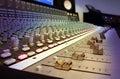 De Studio die van de opname Console mengt Stock Foto's