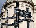 De Tekens van het Oriëntatiepunt van Londen Stock Foto