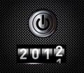 De teller van het nieuwjaar Stock Foto