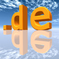 DE Top Level Domain Stock Images