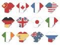 De vlagstickers van de t-shirt Royalty-vrije Stock Afbeeldingen