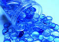 De voorwerpen van de morserij - helder en duidelijk blauw Stock Afbeeldingen