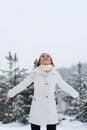De vrouw van Kerstmis Girl.Winter Royalty-vrije Stock Foto
