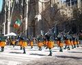 De wereld Grootste St. Patrick Day Parade in de Stad van New York Stock Afbeelding