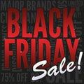 De zwarte Banner van de Verkoop van de Vrijdag Stock Afbeeldingen