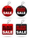 De zwarte Markeringen van de Vrijdag Royalty-vrije Stock Fotografie