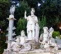 Dea Roma fountain Royalty Free Stock Photo