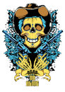 Dead or alive vector illustration ideal for printing on apparel clothes Stock Photography