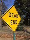 Dead end angled an of a street sign Royalty Free Stock Photography