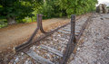 Dead end of a railway train Royalty Free Stock Photo