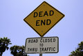 Dead end road sign Royalty Free Stock Photo