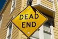 Dead end sign photo of a bright in san francisco Stock Photos