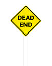 Dead end sign on a white background Royalty Free Stock Photography